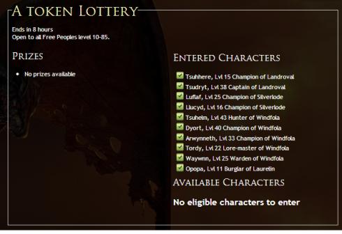 A Token Lottery