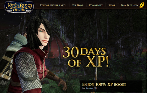 LOTRO: 30 days of 100% XP!
