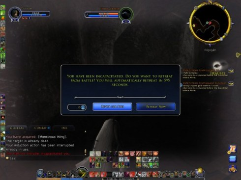 Dead...well in LOTRO moraled out!