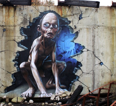3d-gollum-graffiti646