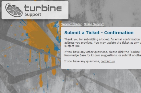 turbine support
