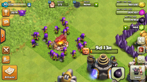 purplearchers n giant being queued